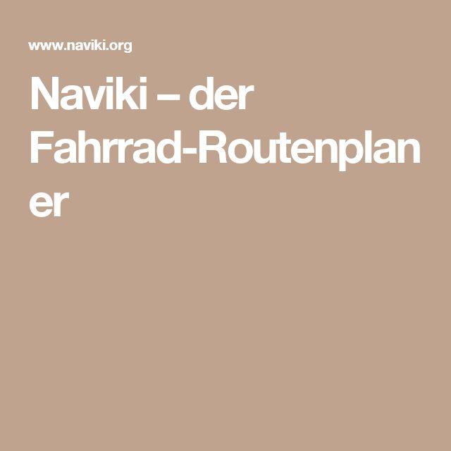 Naviki – der Fahrrad-Routenplaner
