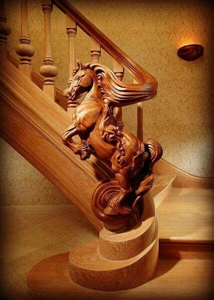 Ok, that's awesome and gorgeous! Except it needs to be either a unicorn, pegasus, or kelpie!  *Staircase by Jop van Driel of Trapart*