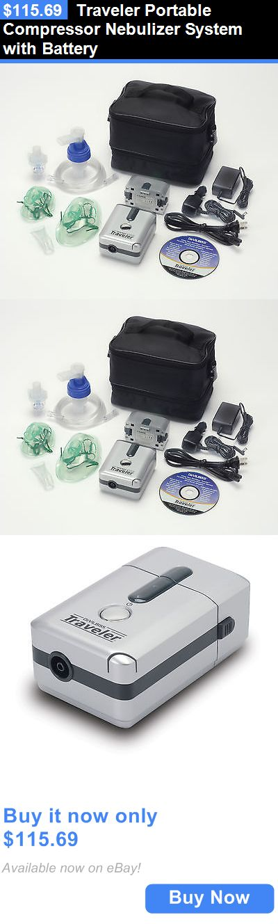 Inhalers and Nebulizers: Traveler Portable Compressor Nebulizer System With Battery BUY IT NOW ONLY: $115.69
