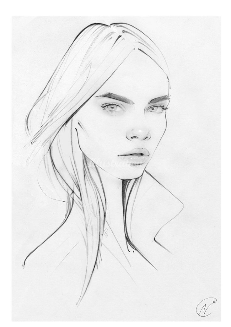 Fashion illustration - Cara Delevingne sketch // Nuno DaCosta