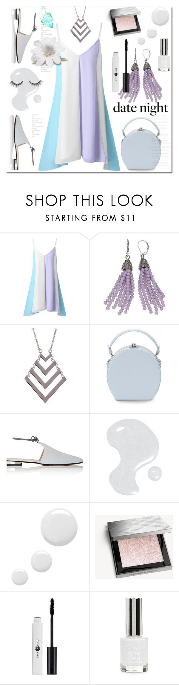 """Без названия #2861"" by ilona-828 ❤ liked on Polyvore featuring Simply Vera, Trina Turk, Handle, Barneys New York, Illamasqua, Topshop, Burberry, tarte and summerdatenight"