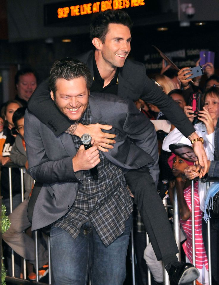 Blake Shelton and Adam Levine-not only are these two hot,  but funny too!