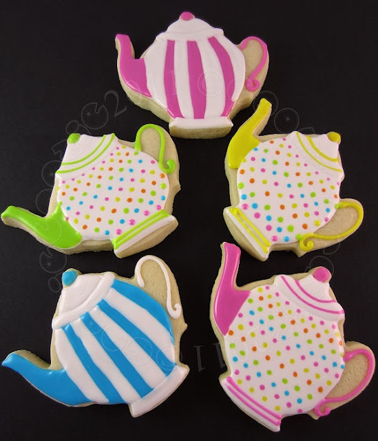 Teapots for a Wedding Shower