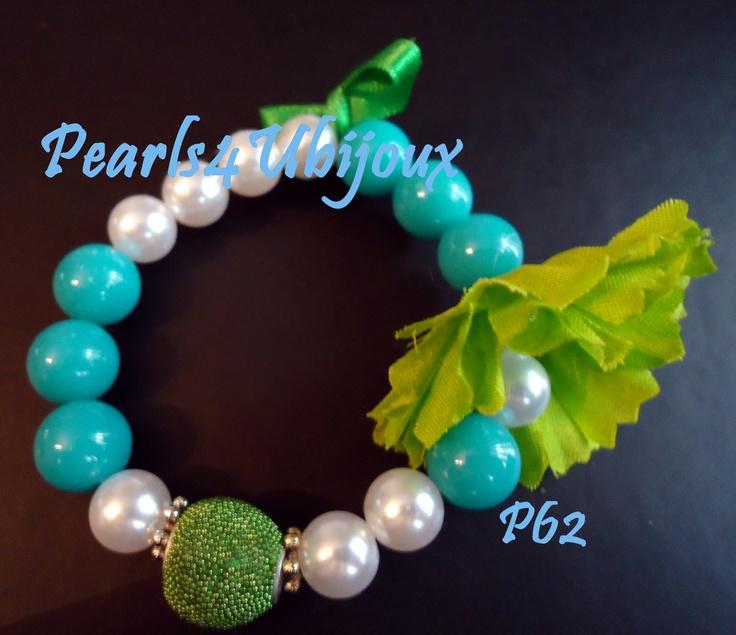 blue green bracelet