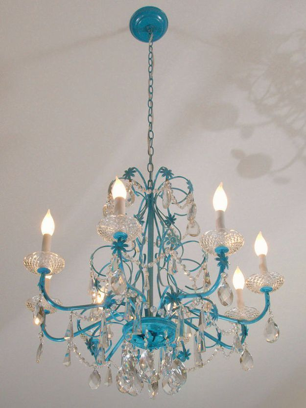 Diy chandelier makeovers blue chandelier redo easy ideas for old diy chandelier makeovers blue chandelier redo easy ideas for old brass crystal and aloadofball Choice Image