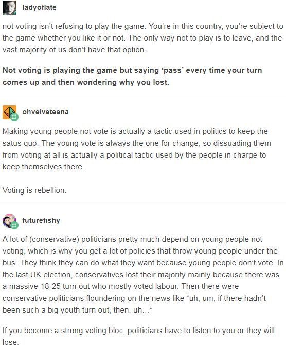 THIS! Yeah, it's rigged, but I guarantee it'll stay rigged if nobody votes.