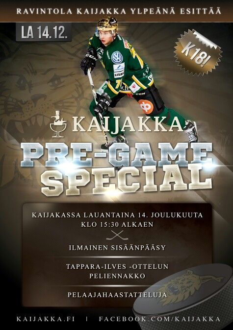 """""""Pre-Game Special"""" event poster"""