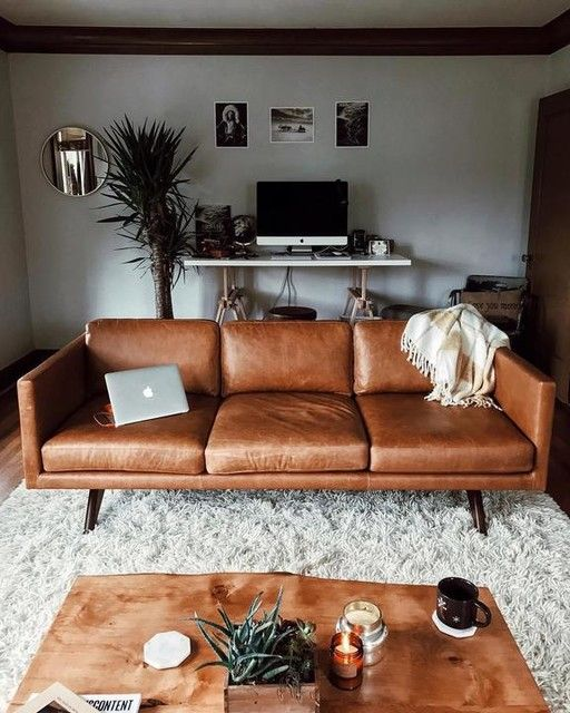 Brooklyn Leather Sofa (81u0026quot;). Sober LivingInterior IdeasInterior ... Part 79