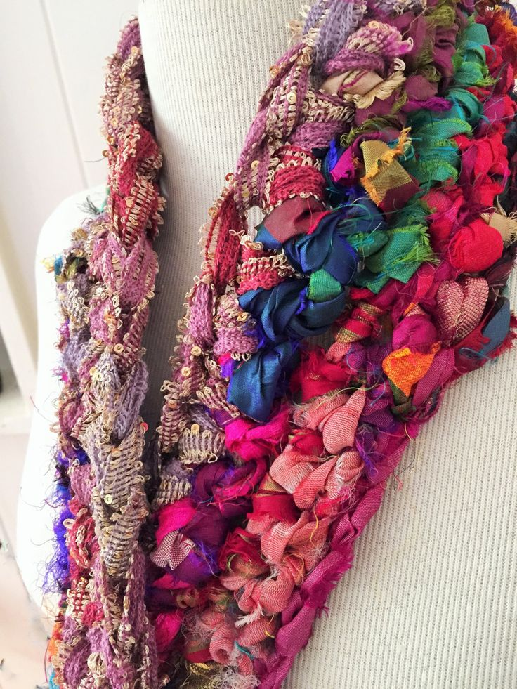 Bollywood Sari scarf by GreenfishBluefish on Etsy