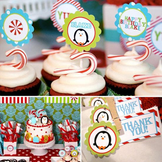A Winter Candyland Birthday Party: If your lil one celebrates a birthday in December, check out this creative Winter Candyland birthday party — it celebrates baby and the season!   Source: Fresh Chick Designs and photography by Jackie Lindfors Photography and Apple Velvet Photography
