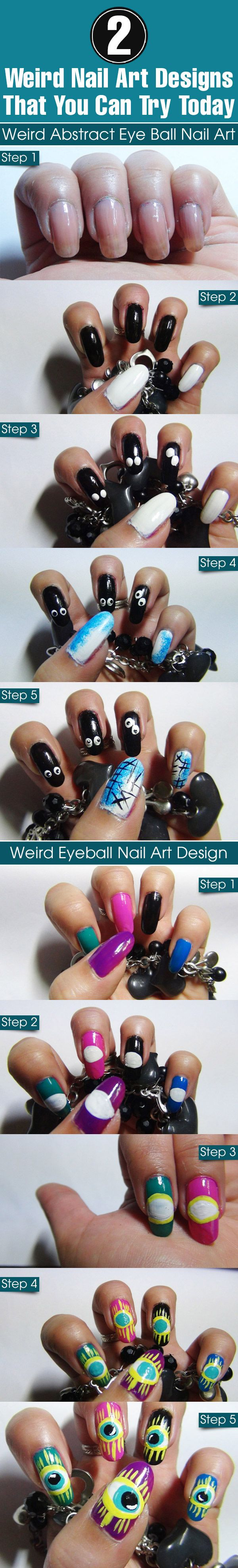 2 Weird Nail Art Designs That You Can Try Today