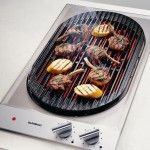 Gas barbecue grill cooktop for indoor usage
