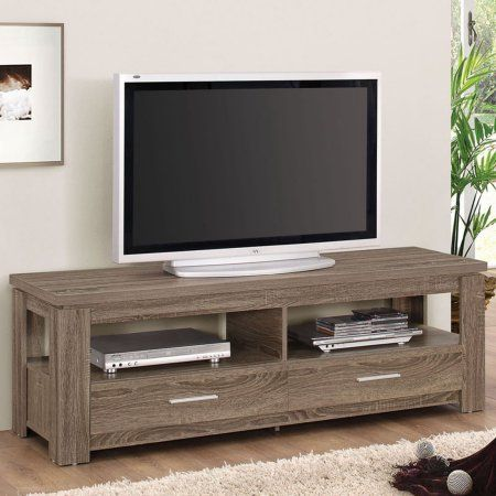 Acme Xanti Dark Taupe TV Stand for Flat Screen TVs up to 60 inch, Brown