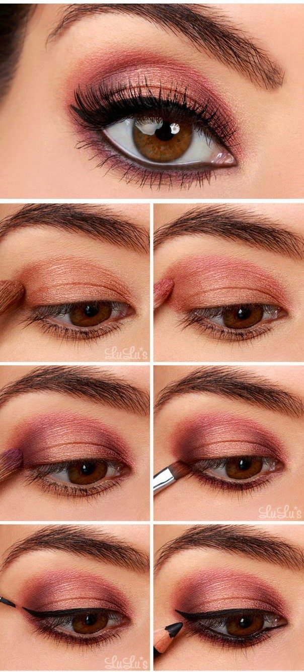 Copper Smokey Eyes Early Fall Makeup Look: 25+ Unique Rose Gold Eyeshadow Ideas On Pinterest