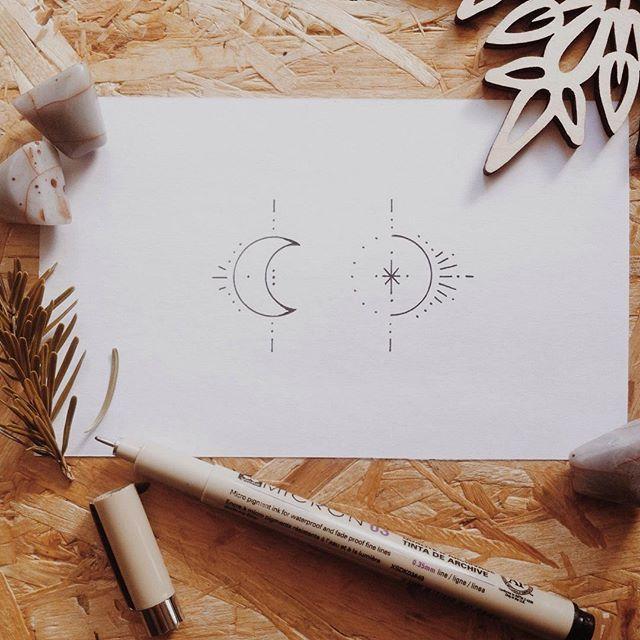 Sun and moon y ∙∙ y Busy ∙∙ ⊹ ∙∙ ⊹ # beeus… – #beeus # B… #tattoos