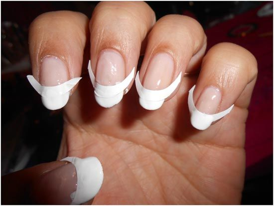 How to do french manicure nails at home