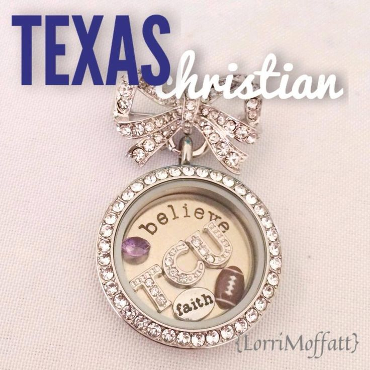 Texas Christian Origami Owl Locket! College Football! Shop now at www.GiggleMoon.OrigamiOwl.com