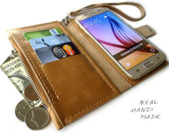 iPhone 6 case wallet handmade leather wallet by MyLeatherCase
