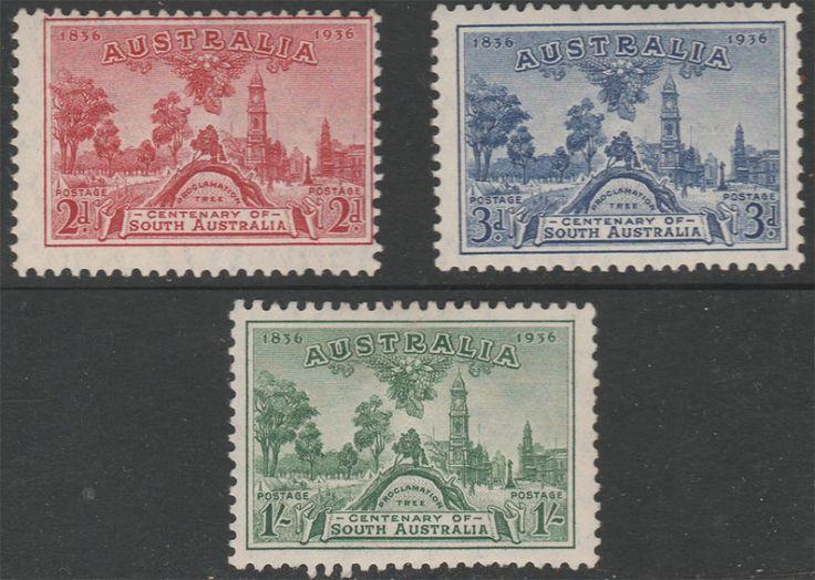 KGV 1914 - 1936 1936 SA South Australia Centenary Set  Mint. Find more KGV 1914 - 1936 at Stamp Shop