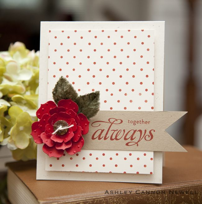 dots.Cards Ideas, Dots Flower, Dots Cards, Ashley Newel, Cards Papertrey, 3D Flower, 3D Cards, Flower Cards, Embossing Flower