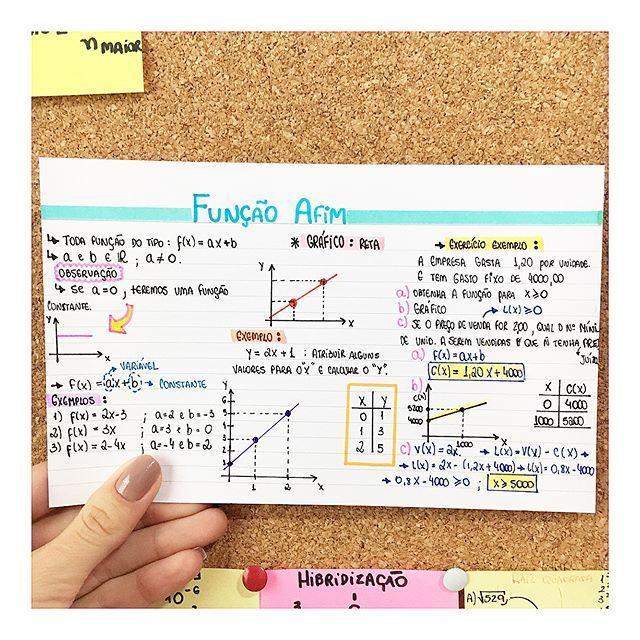 MATEMÁTICA - FUNÇÃO AFIM #resumosonhodamedicina #resumos #matematica