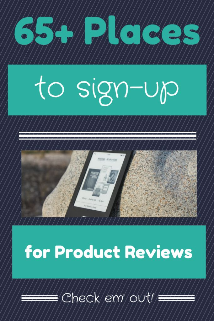 Places to Sign-Up for Product Reviews