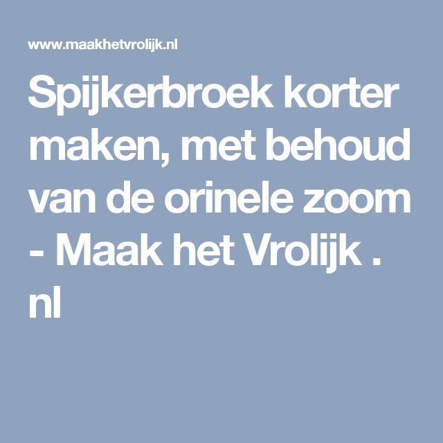 Spijkerbroek korter maken, met behoud van de orinele zoom - Maak het Vrolijk . nl