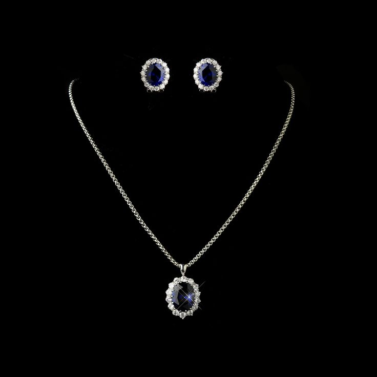 Kate Middleton Inspired Sapphire Blue Wedding Jewelry Set - a beautiful choice for the Mother of the Bride! affordableelegancebridal.com