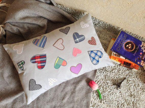 Minimalist Pillow 14x22 with HeartsSofa