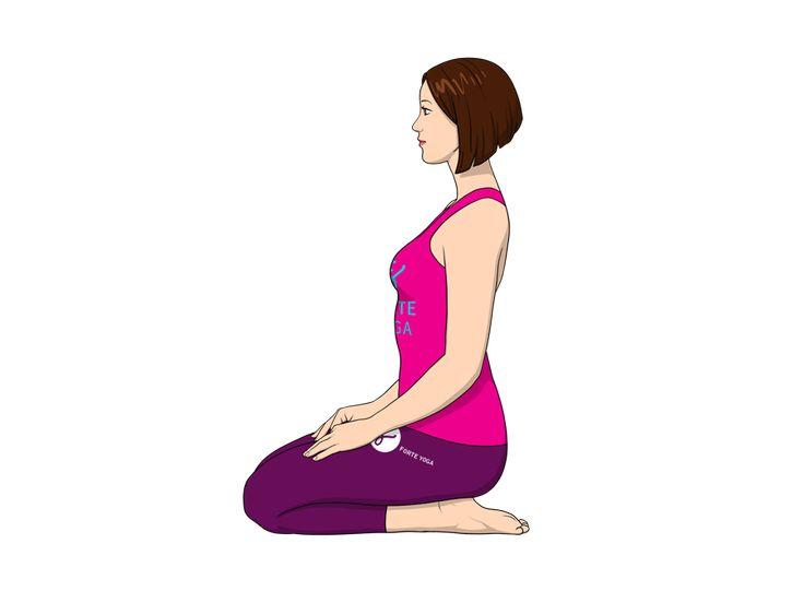 Thunderbolt Yoga Pose