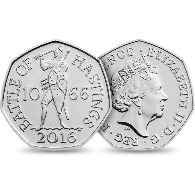 Commemorate the 950th anniversary of the Battle of Hastings with a stunning 50p Brilliant Uncirculated coin. View the design and reserve yours today.