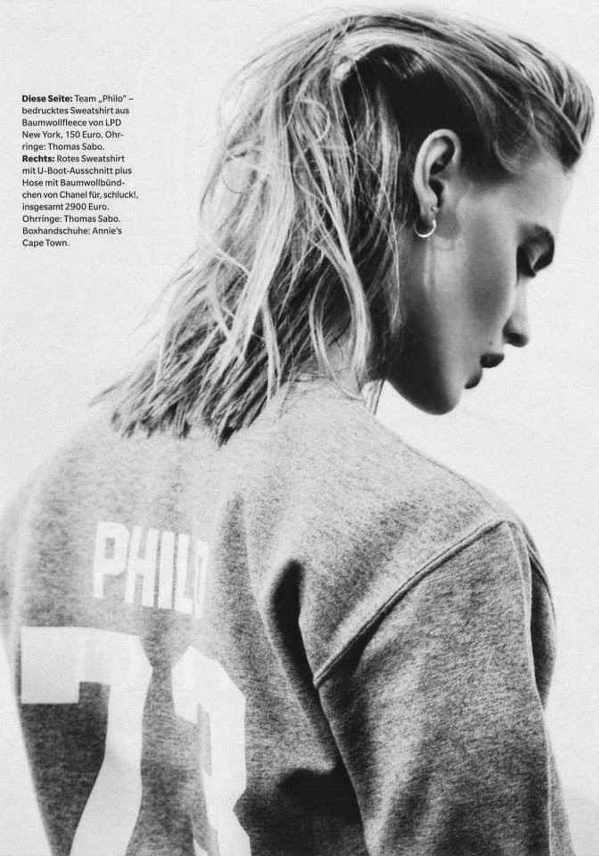 """""""Strong Number"""" Emma Menteath by Daniella Midenge for Myself Magazine May 2014 textured"""