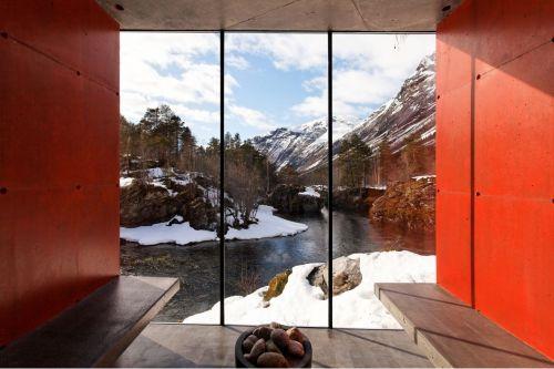 Amazing river sauna