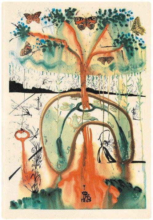 """Alice in Wonderland"" Illustrated by Salvador Dali - Phenomenalisms"