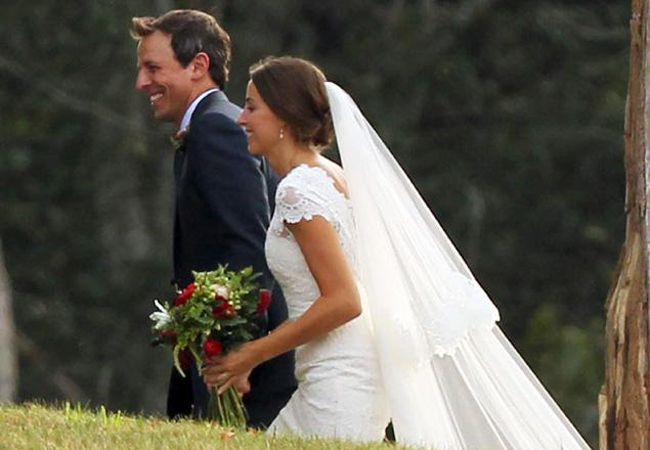 "Seth Meyers of ""Saturday Night Live"" married longtime girlfriend Alexi Ashe"