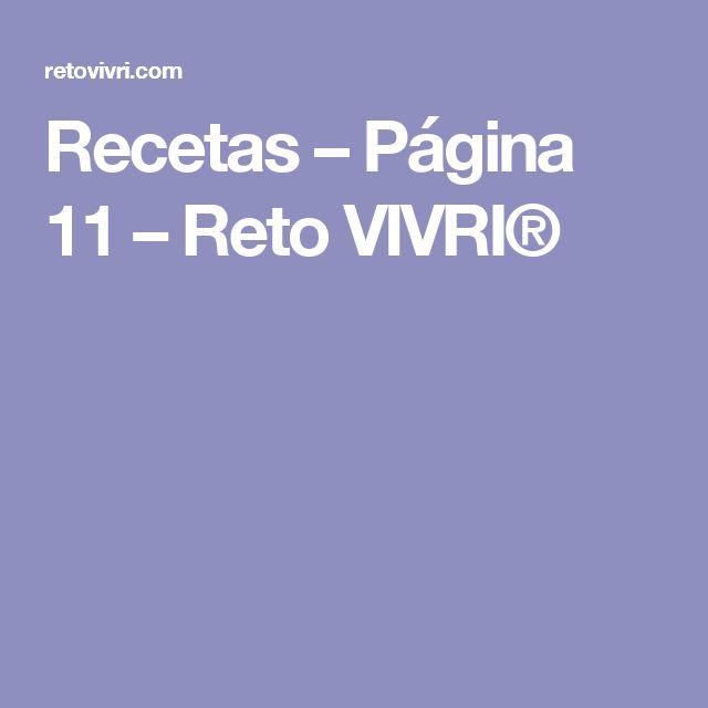 Recetas – Página 11 – Reto VIVRI®
