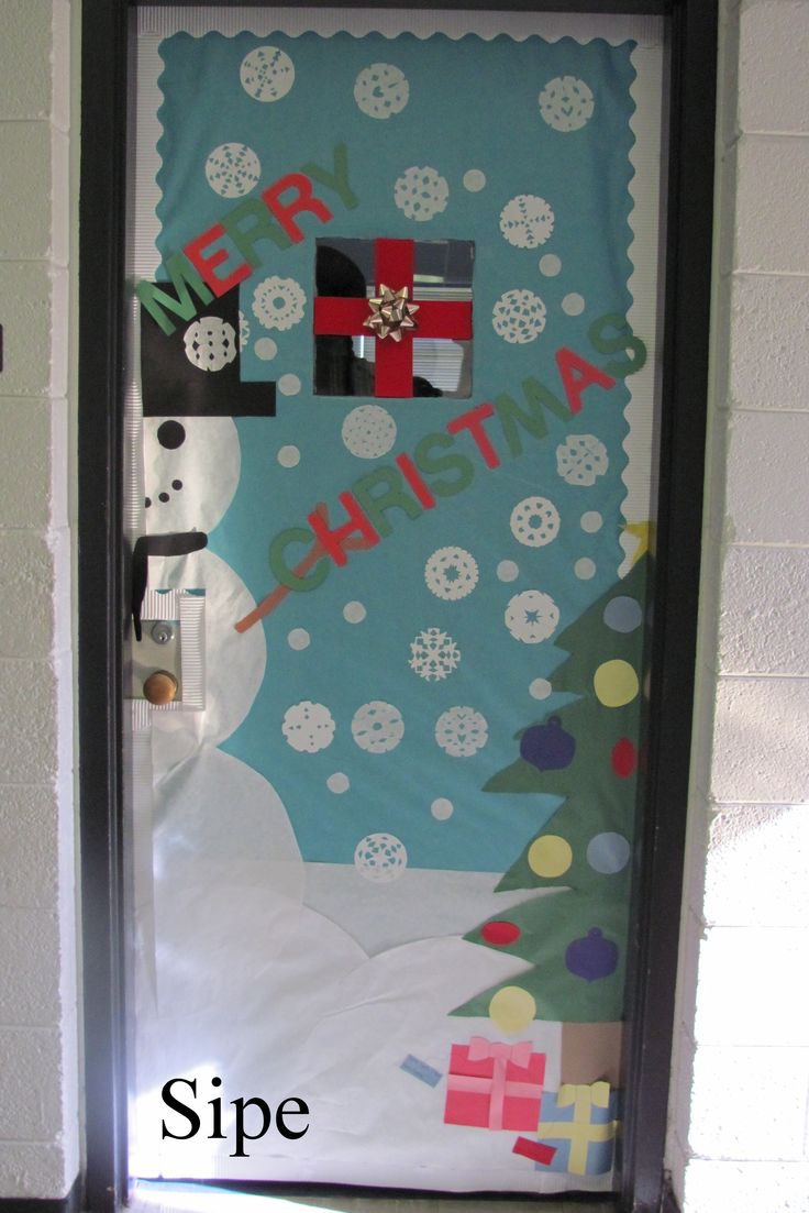 Christmas door decorations - Christmas Office Door Decorations Christmas Door Decorating Contest Img_0077