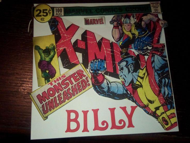 Handmade marvel card personalised x