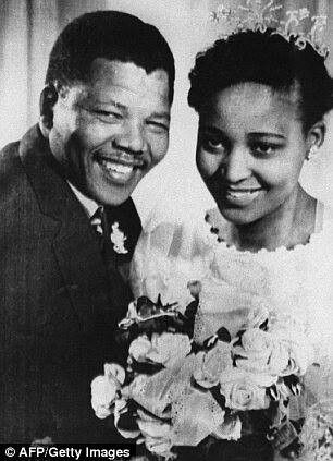 The phenomenal woman who kept his legacy at all cost Winnie Mandela and Husband.