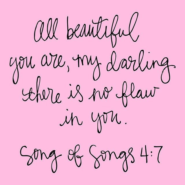 A reminder to all you ladies. This is how God feels about you. Don't look to a guy or magazines to find your worth. You are beautiful and #flawless because He created you! (and Beyoncé agrees) ✨