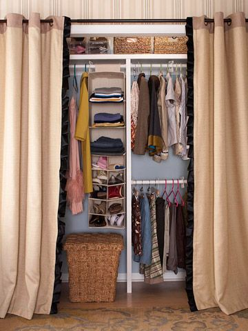 Love the look of this closet.