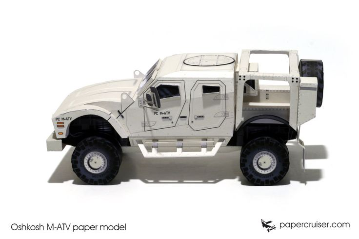 Oshkosh M-ATV paper model | http://papercruiser.com/downloads/oshkosh-m-atv-mrap-paper-model/