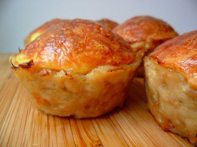 Куриные кексы с сырной начинкой (без муки)