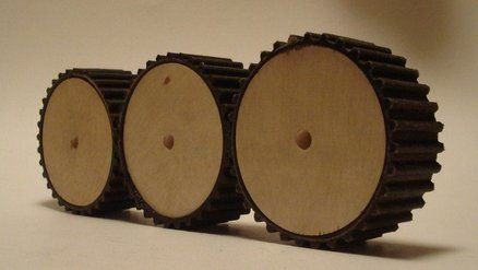 If you're an engineer, an inventor, or just a steampunk fan you might find yourself in need of a gear for a project. Most gears are cast from steel or other metals, but you can make a simple less-durable gear using wooden rounds and an automobile timing belt.