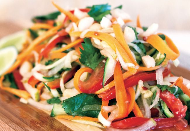 Looking for healthy lunch ideas? We love this Vietnamese salad from Amanda Battley.