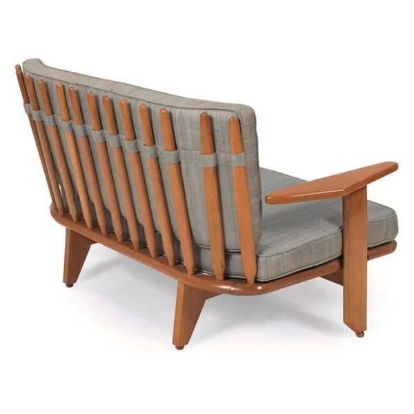 Guillerme et chambron oak settee c1955 yea for 5 5 designers chaise
