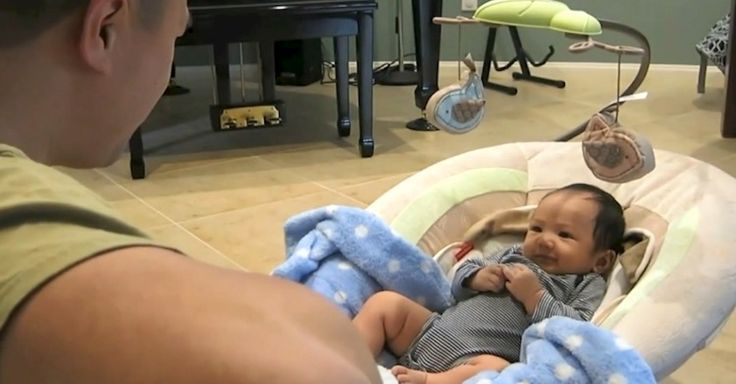 """Baby Has The Cutest Reaction To Hearing Dad Sing Ed Sheeran's """"Thinking Out Loud'"""" via LittleThings.com"""