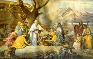 The first altar recorded in the Hebrew Bible is that erected by Noah. Altars were erected by Abraham, by Isaac, by Jacob, and by Moses,