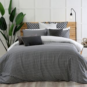 Simple and sophisticated, the Moss quilt cover set is a great way to freshen up your décor. Moss features a subtle tile print in blue and white for an understated, stylish look, and the printed reverse gives you two options to choose from.