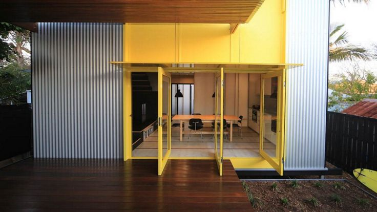 The corrugated-iron, steel-framed granny flat by Clare Design.